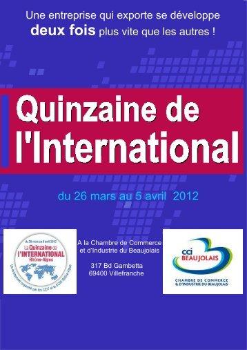du 26 mars au 5 avril 2012 - Chambre de Commerce et d'Industrie ...