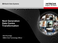 business value - Hitachi Data Systems
