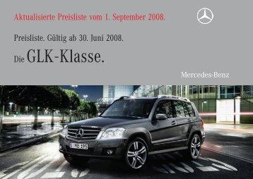 Die GLK - Klasse. - Preislisten