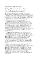 Neue Energiesparverordnung - Fachverband Sanitär Heizung Klima ...