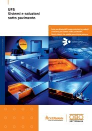 UFS Sistemi e soluzionisotto pavimento - OBO Bettermann