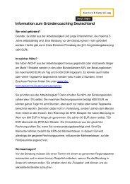 Information zum Gründercoaching Deutschland - Karriere ...