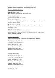 Foreløpig program for undervisning i ANT2220 og ANT2221 i 2012 ...