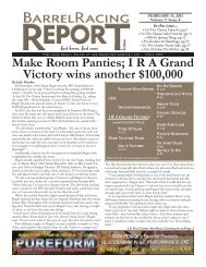 Make room Panties - Barrel Racing Report
