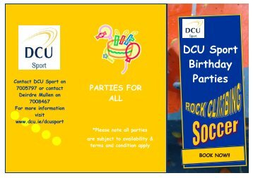Birthday Party Brochure.pub1.pub - DCU