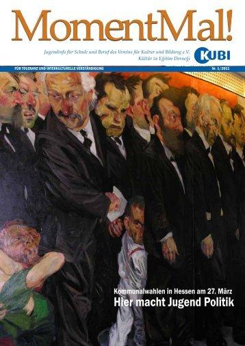 Zeitschrift MomentMal. Ausgabe 01/2011 - KUBI
