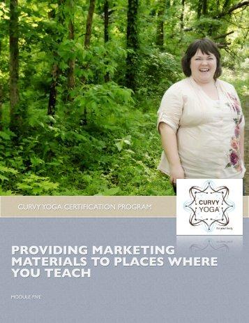 providing marketing materials to places where you teach - Curvy Yoga