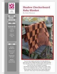 Shadow Checkerboard Baby Blanket By Clara ... - Kraemer Yarns