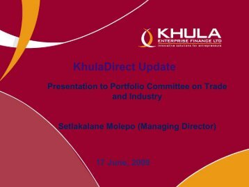 KhulaDirect - Department of Trade and Industry