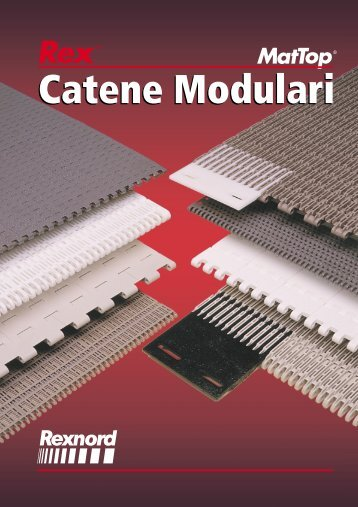 Catene modulari Catalogue Rex Mat Top - Tecnica Industriale S.r.l.