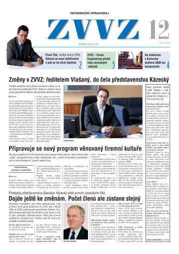 Zpravodaj ZVVZ č.12 - ZVVZ a.s.