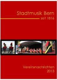 2013, Heft Nr. 1 - Stadtmusik Bern