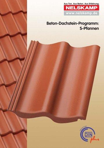 Beton-Dachstein-Programm: S-Pfannen