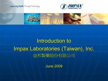 Impax Laboratories, Inc.