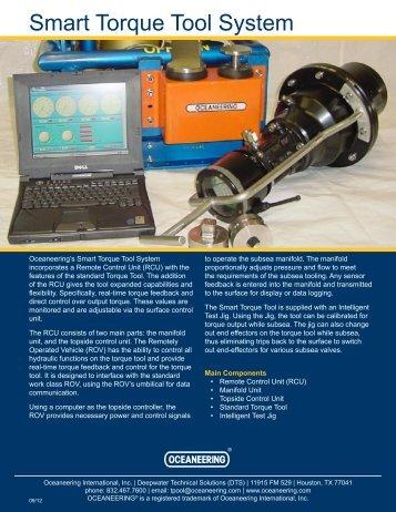Smart Torque Tool System - Oceaneering