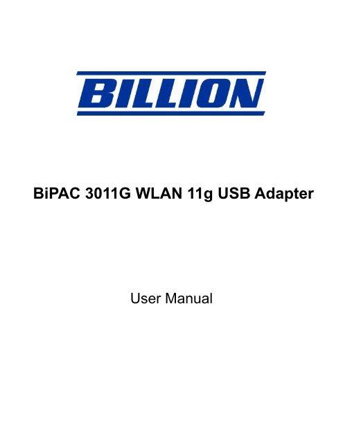 BILLION 3011G 64BIT DRIVER