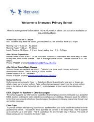 International Student General information ... - Sherwood School