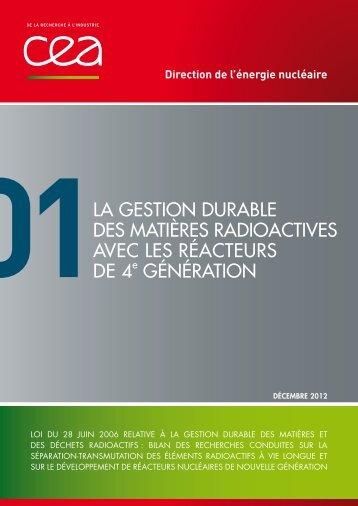 Tome 1 : « La gestion durable des matières radioactives avec ... - CEA
