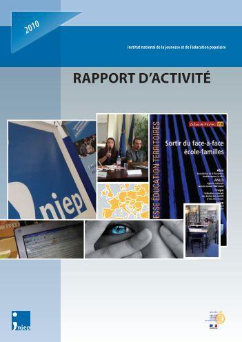 Téléchargez le rapport d'activité 2010 - Injep