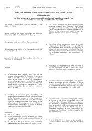DIRECTIVE 2005/64/EC OF THE EUROPEAN ... - EUR-Lex