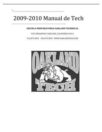 2009‐2010 Manual de Tech - Oakland Technical High School