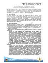 Criterios de Clasificación de Información Ministerio de Relaciones ...