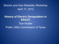 ERCOT History At a Glance - Public Utility Commission of Texas