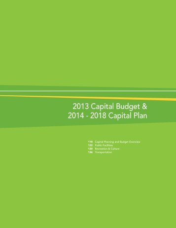 2013 Capital Budget & 2014 - 2018 Capital Plan - Regional ...