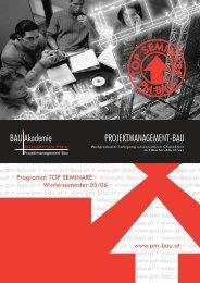 Folder Top Seminar WS05-06 - Kammer der ZiviltechnikerInnen für ...