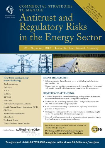 antitrust and regulatory risks in the energy Sector - Willheim | Müller