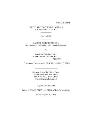 Carrera v. Bayer Corp. - Appellate Law NJ Blog