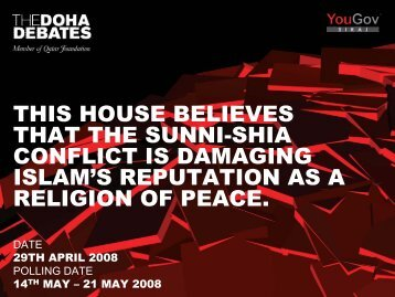 this house believes that the sunni-shia conflict - Support