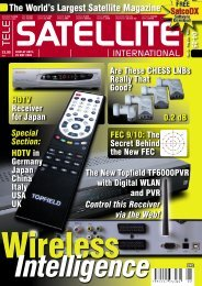 The World's Largest Satellite Magazine - TELE-satellite International ...