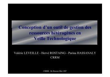 La veille technologique - CRRM à