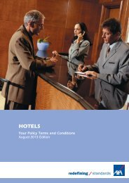 Hotel Insurance policy document (PDF) - Business banking
