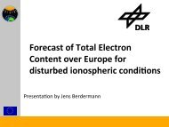 Forecast of Total Electron Content over Europe for ... - AFFECTS