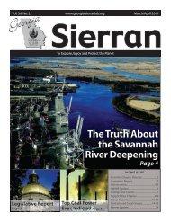 The Truth About the Savannah River Deepening - Georgia Sierra Club