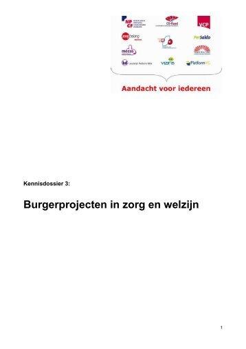Burgerprojecten in zorg en welzijn - Koepel Wmo-raden