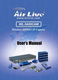 Wireless MPEG4 IP Camera - Airlive