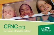 Are you on track for college? - College Foundation of North Carolina