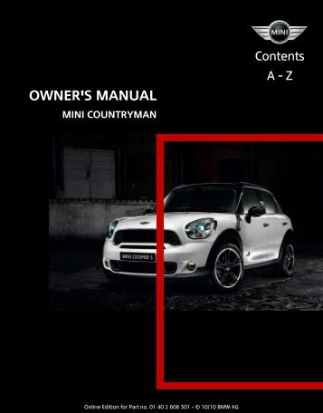2011 Countryman Owner's Manual - Library of Motoring