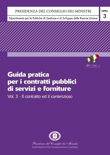 Guida pratica per i contratti pubblici di servizi e forniture - Territorio