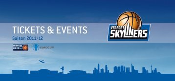 TickeTs & evenTs - Fraport Skyliners