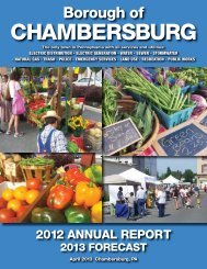 2012 Annual Report and 2013 Forecast - Borough Of Chambersburg