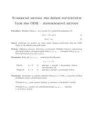 jednokrokové metody