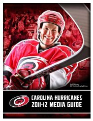 2011-12 MEDIA GUIDE - Carolina Hurricanes - NHL.com