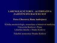 LARYNGEÁLNÍ TUBUS - Česká společnost anesteziologie ...