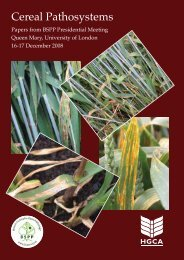 Cereal Pathosystems, BSPP conference 16-17 Dec 2008