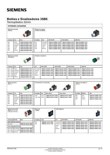 Botões e Sinalizadores 3SB6 - Industry