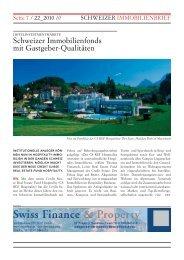 Schweizer Immobilienfonds mit Gastgeber-Qualitäten